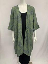 Bree Peaked Jacket Khaki Print